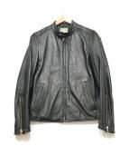 ()の古着「シングルライダースジャケット」|ブラック