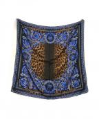 VERSACE(ヴェルサーチ)の古着「シルクスカーフ」|ブラウン
