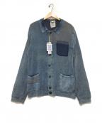 DIESEL()の古着「ニットジャケット」|インディゴ