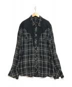 ()の古着「ウエスタンシャツ」 ブラック