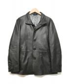 TAKEO KIKUCHI(タケオキクチ)の古着「レザージャケット」|ブラック