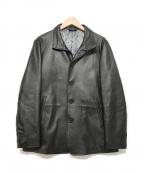 TAKEO KIKUCHI(タケオキクチ)の古着「レザージャケット」 ブラック
