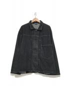 ()の古着「オーバーサイズデニムジャケット」|ブラック