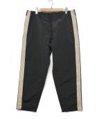 ()の古着「サイドラインパンツ」|ブラック