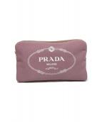 PRADA(プラダ)の古着「キャンバスポーチ」|ピンク