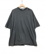 YOKE(ヨーク)の古着「Oversized Insideout T-shirt」 グレー