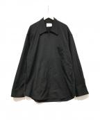 stein(シュタイン)の古着「OVERSIZED ZIP SHIRT JACKET」|ブラック