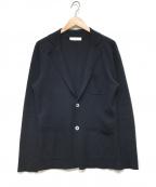 Cruciani(クルチアーニ)の古着「シルクカシミヤニットジャケット」|ネイビー