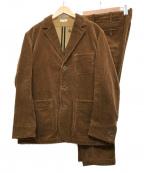 BURGUS PLUS(バーガスプラス)の古着「3Pセットアップスーツ」 ブラウン