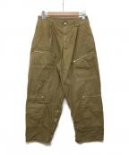 CellarDoor(セラードアー)の古着「side snap button elastic pants」|ベージュ