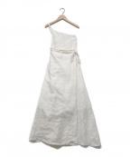 Little suzie(リトルスージー)の古着「One Shoulder Sarong Wrap Skirt」 ホワイト