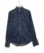 MOMOTARO JEANS(桃太郎ジーンズ)の古着「デニムウエスタンシャツ」 ブルー