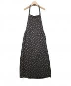 DRESSTERIOR(ドレステリア)の古着「フルールプリントエプロン風ドレス」|ブラック×ブラウン