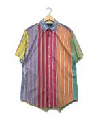 RALPH LAUREN()の古着「クレイジーパターン半袖シャツ」 マルチカラー