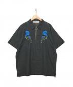 LEGENDA(レジェンダ)の古着「ハーフジップシャツ」 ブラック