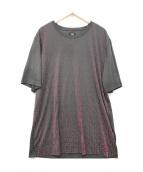()の古着「半袖Tシャツ」|グレー×ピンク