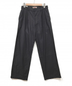GAIJIN MADE(ガイジンメイド)の古着「2プリーツパンツ」|ブラック