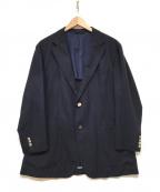 UNIVERSAL LANGUAGE(ユニバーサルランゲージ)の古着「トロピカルウールジャケット」 ネイビー
