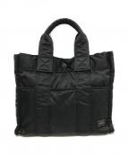 HEAD PORTER(ヘッドポーター)の古着「ハンドバッグ」|ブラック