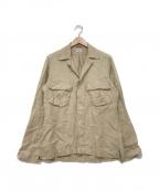 Bagutta(バグッタ)の古着「リネンシャツジャケット」|ベージュ