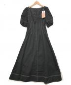 eimy istoire(エイミーイストワール)の古着「ステッチワンピース」|ブラック