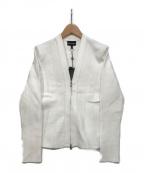 EMPORIO ARMANI(エンポリオアルマーニ)の古着「ジップニットジャケット」|ホワイト