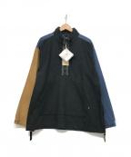 Manastash(マナスタッシュ)の古着「ハーフジップシャツ」 ブラック×ブルー
