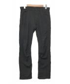 ()の古着「ステッチストライプスラックス」|ブラック