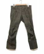 ()の古着「立体裁断パンツ」|ブラウン