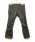 NEMETH(ネメス)の古着「立体裁断パンツ」|ブラウン