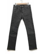()の古着「スキニーデニムパンツ」|チャコールグレー