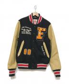 Franklin & Marshall(フランクリン&マーシャル)の古着「スタジャン」|ブラック×ベージュ