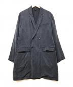 COMOLI(コモリ)の古着「コットンダブルコート」|ネイビー