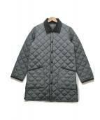 ()の古着「キルティングコート」|グレー