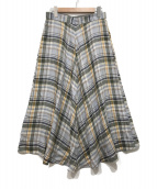 ()の古着「チェックスカート」|グレー