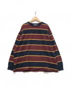 THE SHINZONE(ザ シンゾーン)の古着「ラガーシャツ」|ボルドー