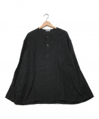 ORCIVAL(オーシバル)の古着「ヘンリーネックリネンシャツ」 ブラック