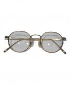 金子眼鏡(カネコメガネ)の古着「眼鏡」|ブラウン×ゴールド