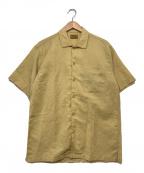 BROWN by 2-tacs(ブラウンバイツータックス)の古着「オープンカラーシャツ」 ベージュ