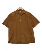()の古着「シルクコットンオープンカラーシャツ」 ブラウン