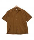 SCYE(サイ)の古着「シルクコットンオープンカラーシャツ」 ブラウン