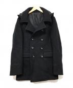 Junhashimoto(ジュンハシモト)の古着「HOOD MID P-COAT」|ブラック