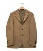 ()の古着「キャメルテーラードジャケット」 ベージュ