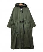 CLANE()の古着「オーバーロングモッズコート」|オリーブ