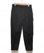 Graphpaper(グラフペーパー)の古着「Selvage Wool Taperd Slacks」|ブラック