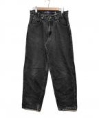 LEVI'S(リーバイス)の古着「バギーデニムパンツ」|ブラック
