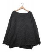 ()の古着「リネンプルオーバー」|ブラック