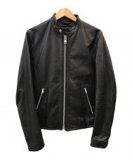 Black by VANQUISH (ブラック バイ バンキッシュ) シングルライダースジャケット ブラック サイズ:S