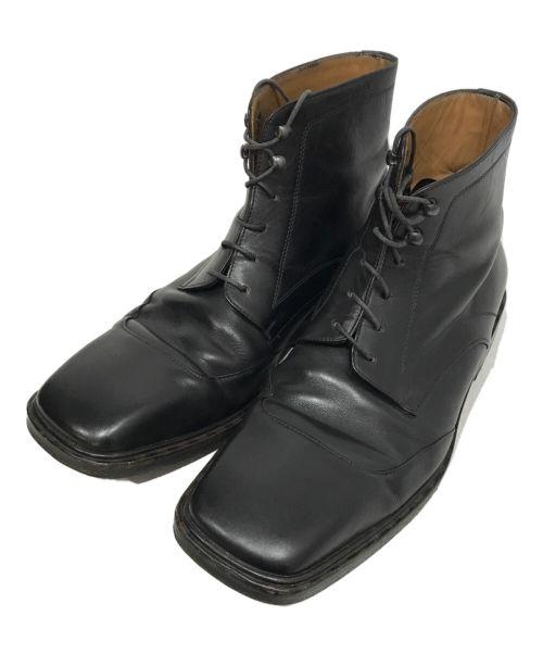 LOUIS VUITTON(ルイ ヴィトン)LOUIS VUITTON (ルイ ヴィトン) スクエアトゥシューズ ブラック サイズ:61/2の古着・服飾アイテム