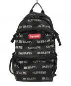 SUPREME()の古着「Reflective Repeat Backpack」|ブラック